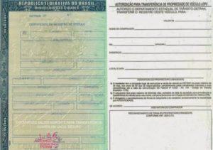 Documento de compra e venda do carro