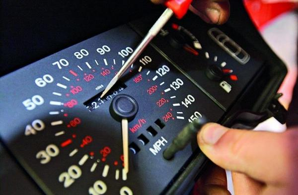 Quilometragem do carro alterada