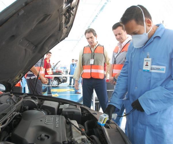 Preparar o carro para inspeção