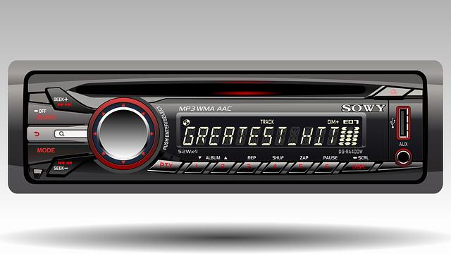 áudio para carro